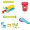 Kép 2/2 - Gyurmaformázó készlet - Introduction to dough 4 tubs and 21 tools