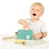 Kép 3/3 - Fa játék kenyérpirító zöld