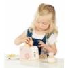 Kép 3/3 - Fa játék kenyérpirító rózsaszín