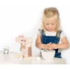 Kép 3/4 - Fa játék mixer szett rózsaszín