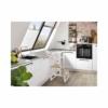 Kép 2/4 - BOMI kétlépcsős konyhai fellépő korláttal natúr-fehér