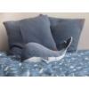 Kép 2/8 - Little Dutch plüss játék bálna kék 25 cm