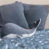 Kép 5/8 - Little Dutch plüss játék bálna kék 25 cm