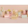 Kép 5/7 - Little Dutch fa építőkocka 50 db - pink