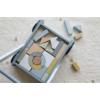 Kép 10/11 - Little Dutch fa járássegítő kocsi - kék