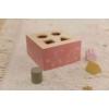 Kép 7/8 - Little Dutch pink fa formabedobó kocka