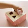 Kép 2/8 - Little Dutch pink fa formabedobó kocka