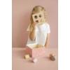 Kép 4/8 - Little Dutch pink fa formabedobó kocka