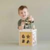 Kép 7/10 - Little Dutch készségfejlesztő kocka - olívazöld