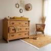 Kép 2/5 - Okker pöttyös, 120x170 cm-es Little Dutch gyerekszőnyeg