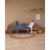 Kép 2/6 - Pure&Nature szivárványos, 130x80 cm-es Little Dutch gyerekszőnyeg