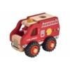 Kép 1/2 - Fa tűzoltó autó gumi kerekekkel Magni