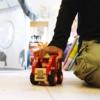 Kép 2/2 - Fa tűzoltó autó gumi kerekekkel Magni