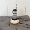 Kép 4/4 - Magni pingvines toronyépítő játék fából