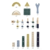 Kép 3/3 - Magni 80 db-os fa építő és szerelő készlet pasztell színekben