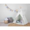 Kép 1/5 - Little Dutch indián sátor szőnyeggel és zászlókkal - menta