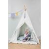 Kép 2/5 - Little Dutch indián sátor szőnyeggel és zászlókkal - menta