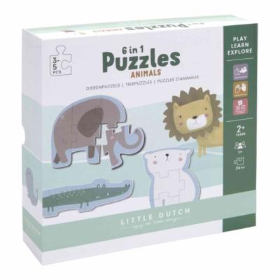 Little Dutch puzzle játék - állatkert