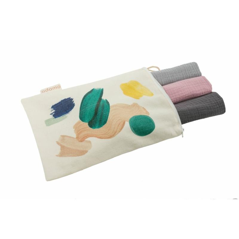 Textil pelenka csomag szürke-rózsaszín