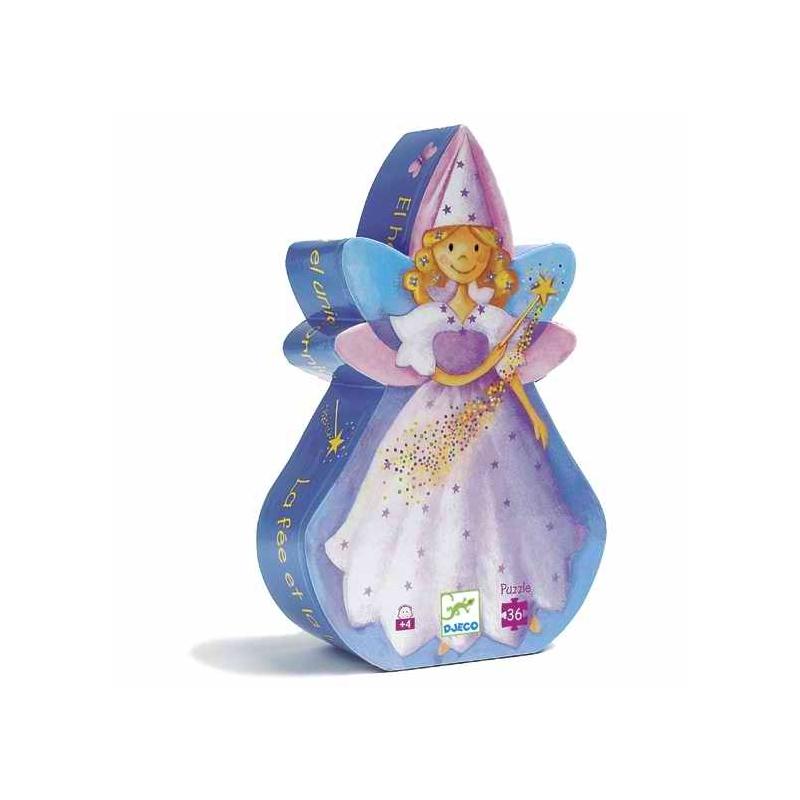 Formadobozos puzzle - Tündér és az egyszarvú - The fairy and the unicorn