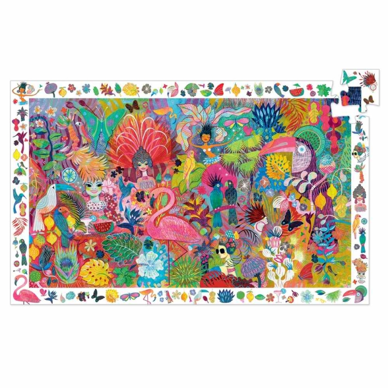 Megfigyeltető puzzle - Riói karnevál, 200 db-os - Rio Carnaval