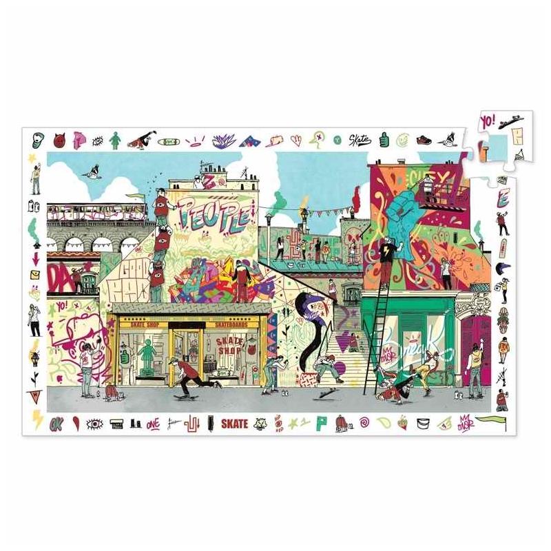 Megfigyeltető puzzle - Utcai művészet, 200 db-os - Street art