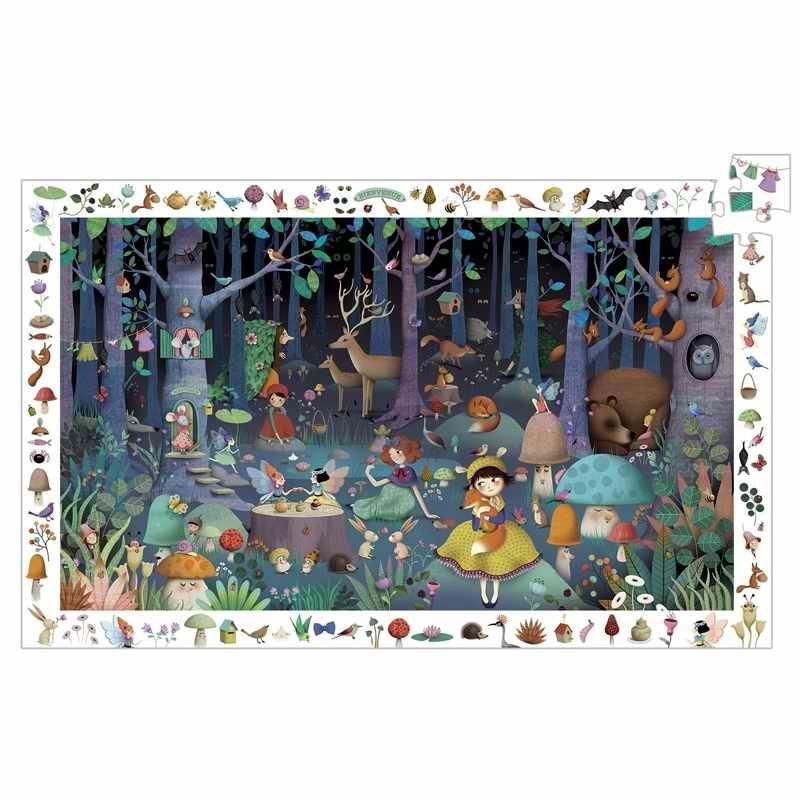Megfigyeltető puzzle - Elvarázsolt erdő, 100 db-os - Enchanted Forest