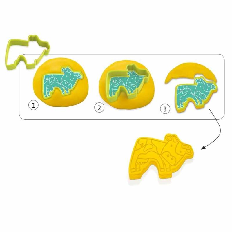 Gyurmaformázó készlet - 6 press moulds and 6 stamps pet animals