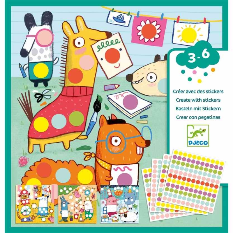 Kreatív matricázó - With coloured dots