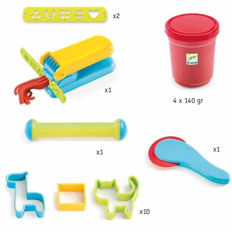 Gyurmaformázó készlet - Introduction to dough 4 tubs and 21 tools