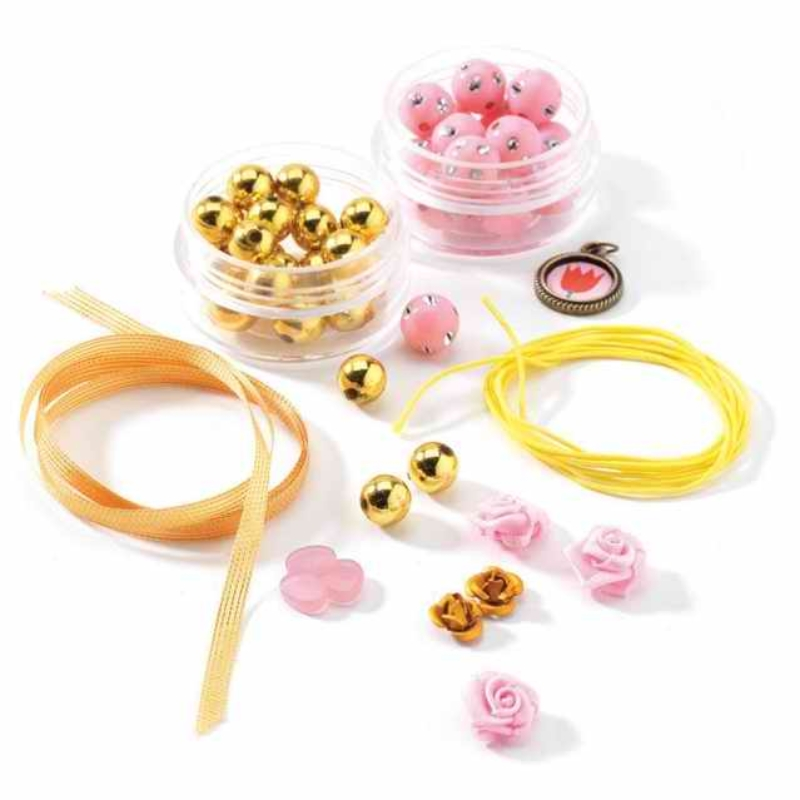 Ékszerkészító készlet - Gyöngyök és virágok - Pearls and flowers