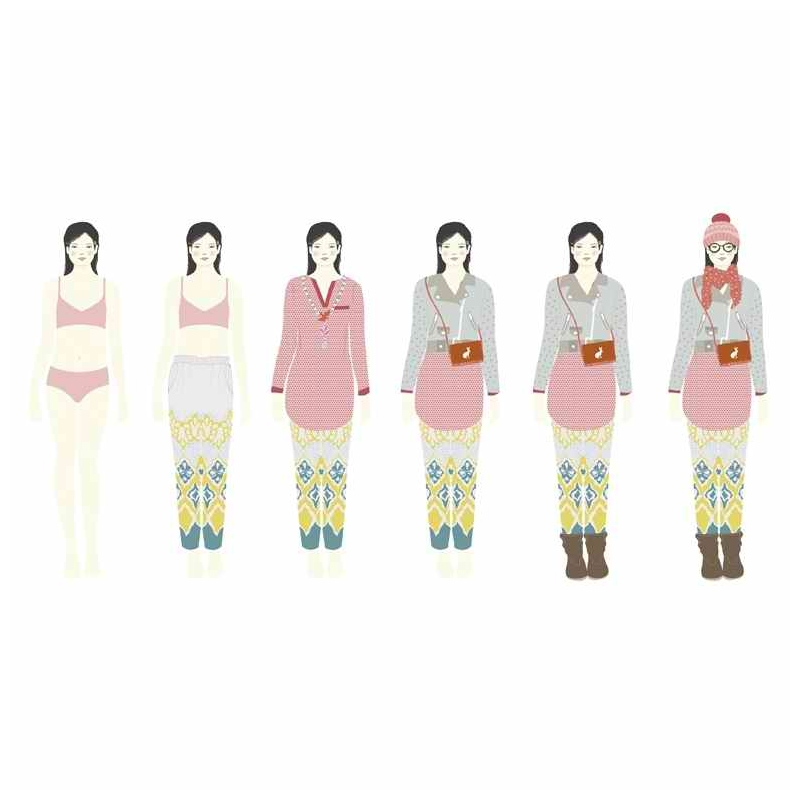 Papírbaba öltöztető - Hatalmas gardrób – One big dressing room