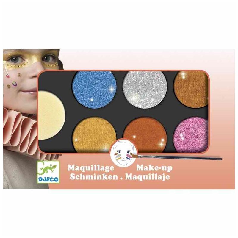 Arcfesték - 6 színű, metál fényű - Palette 6 colours - Metallic