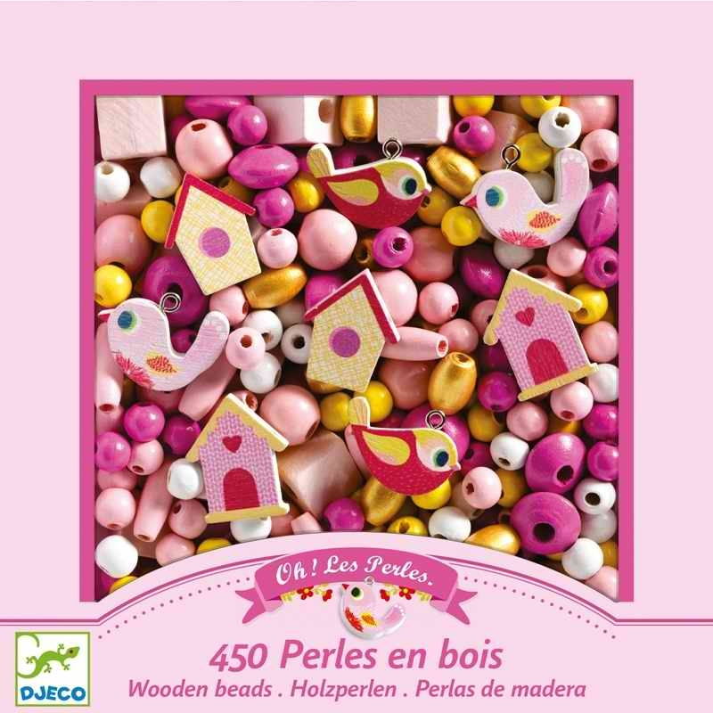 Ékszerkészítő - fa gyöngyök madarakkal - Wooden beads, bird