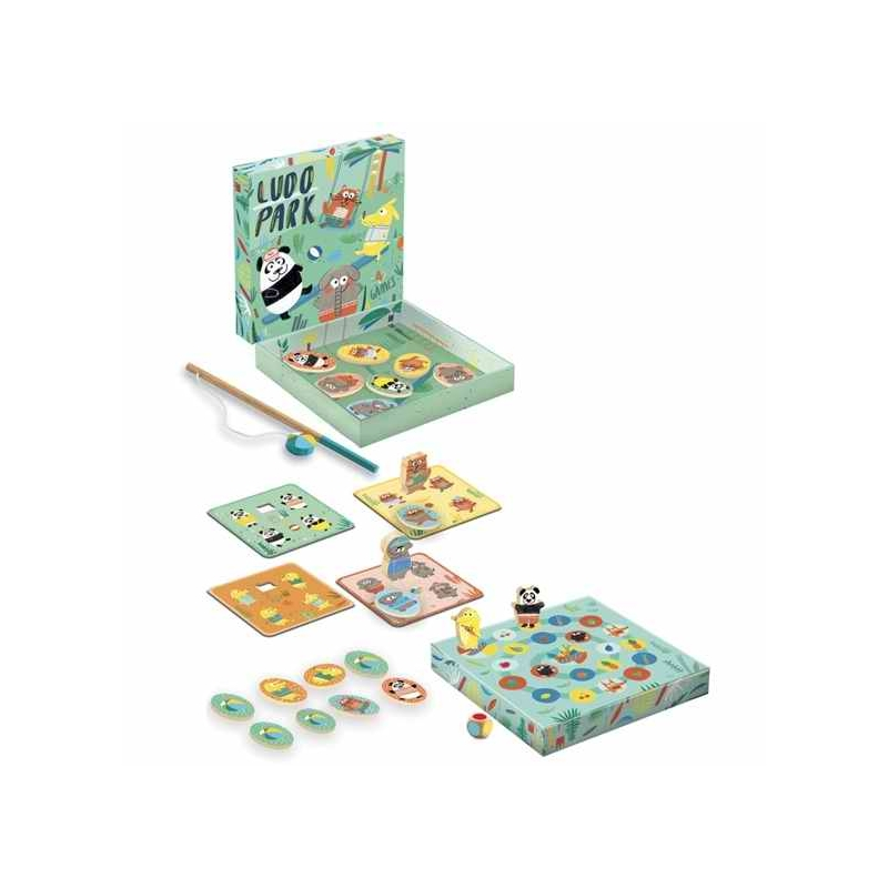 Társasjáték - Játszótér, 4 játék - LudoPark, 4 games