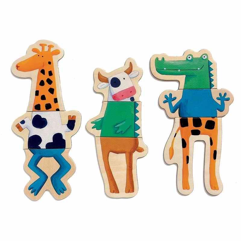 Mágneses képkirakó - Vicces állatok - Crazy animals