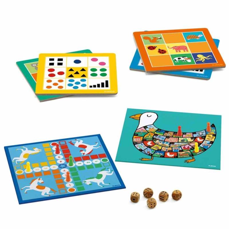 Társasjáték klasszikus - Társasjáték készlet KJ4+ - Classic box 4+
