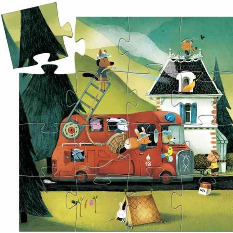 Mini puzzle - A tűzoltóautó - The fire truck