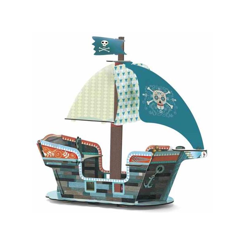Építőjáték - Kalózhajó 3D - Pirate boat 3D