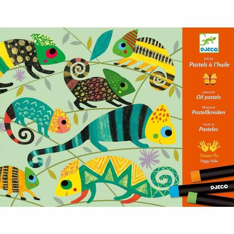 Művészeti műhely, olajpasztell - Színes dzsungel - Coloured jungle