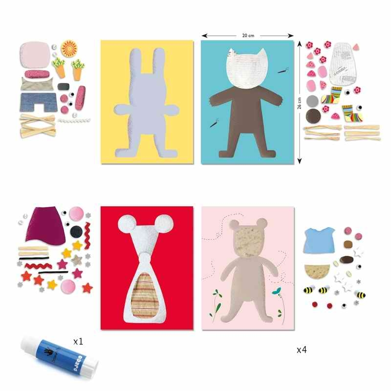 Kollázs műhely - Kicsiknek - Collages for little ones