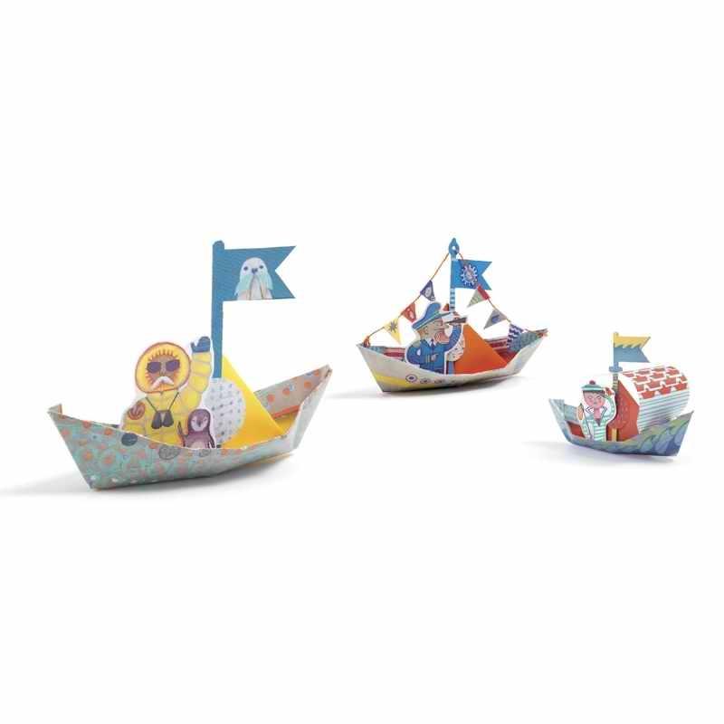 Origami - Papírcsónak - Floating boats