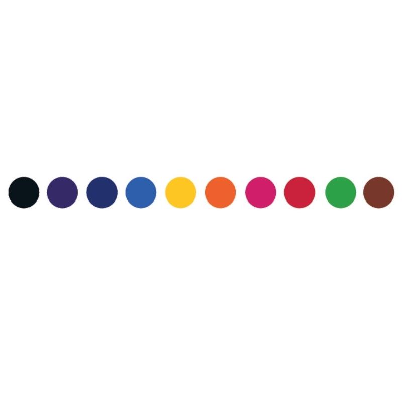 Ecsetfilc készlet - 10 klasszikus szín - Classic colors