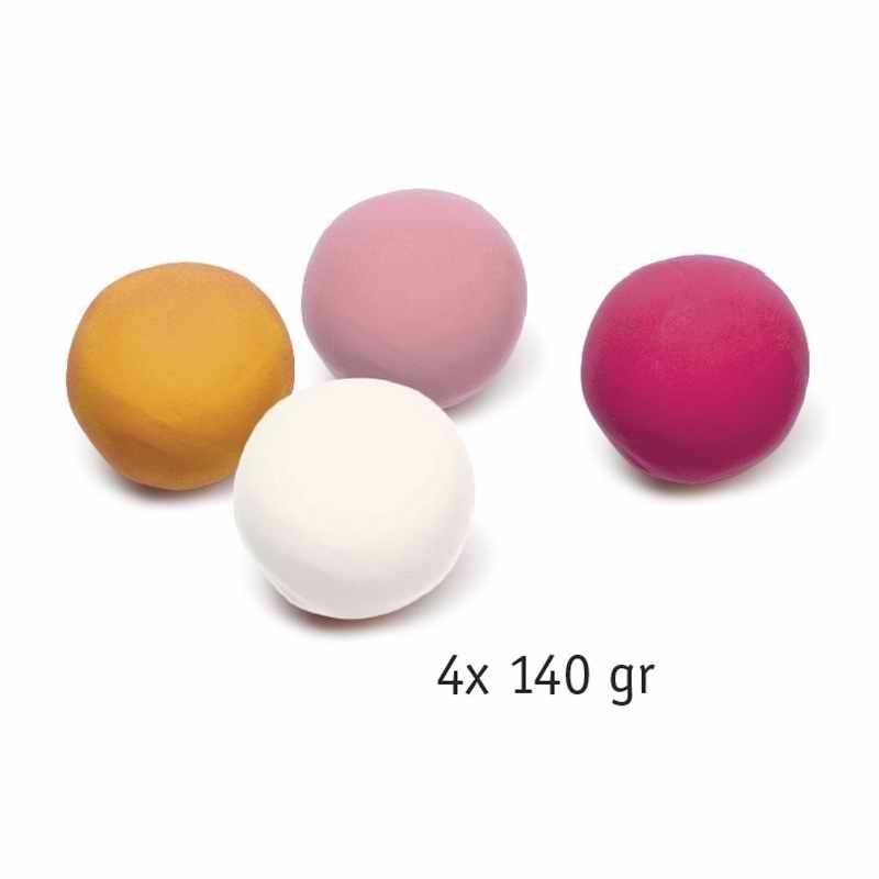Gyurma - Pillegyurma 4 szín - 4 tubs of play dough, Sweet