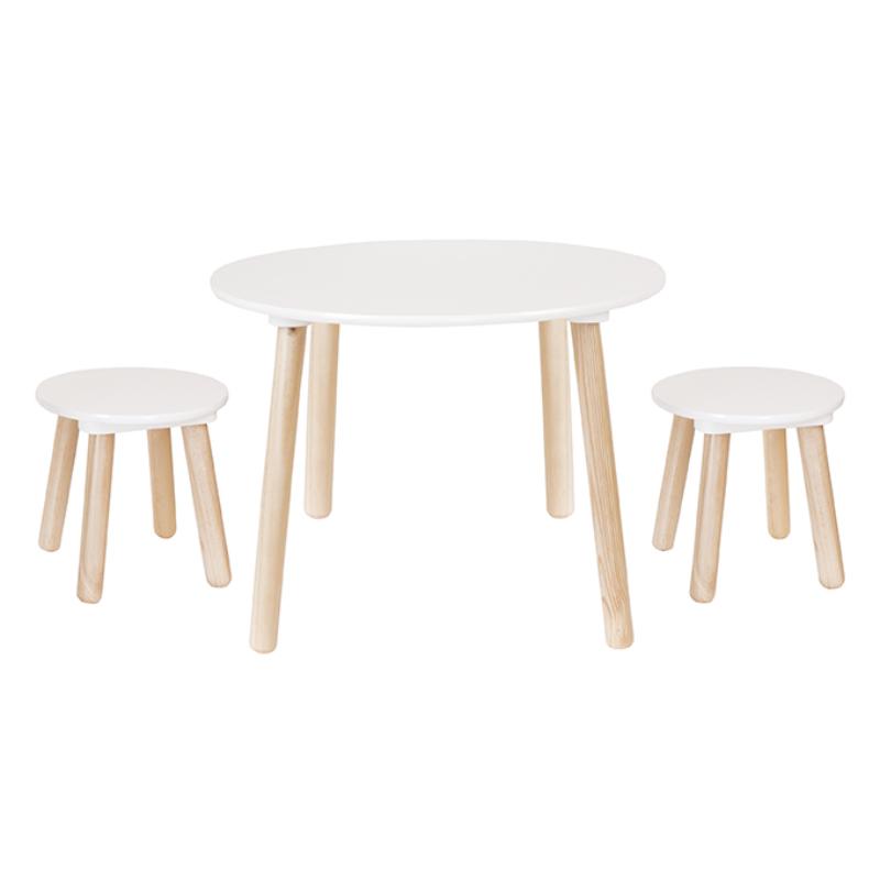 Asztal 2 székkel fából Jabadabado