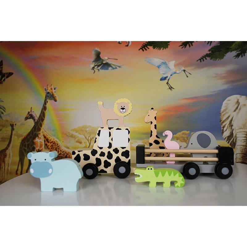 Fa dzsip szafari állatokkal Jabadabado