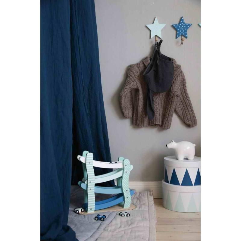 3 db-os csillag alakú fogas, pasztell kék Jabadabo