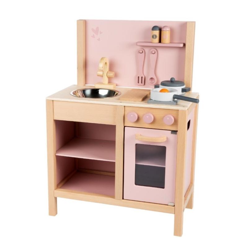Fa játékkonyha rózsaszín
