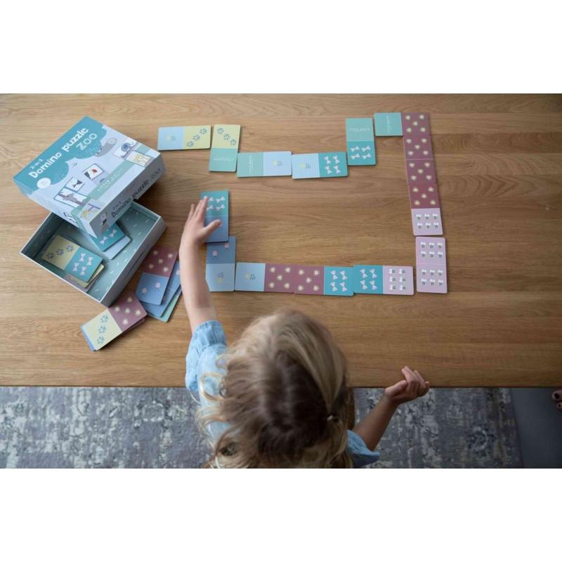 Little Dutch domino és puzzle egyben játék - állatkert