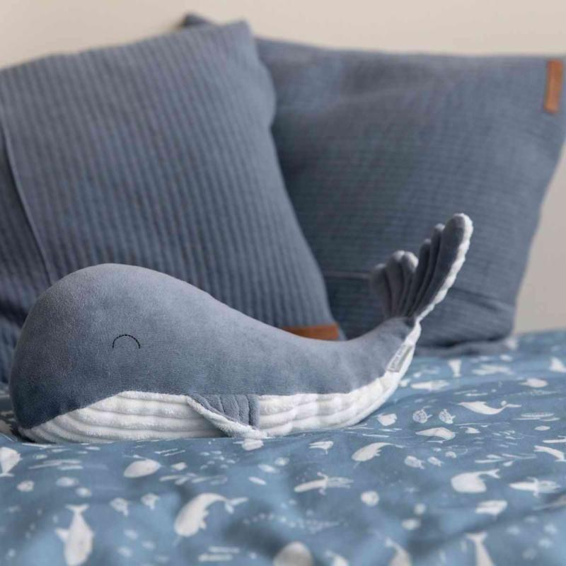 Little Dutch plüss játék bálna kék 25 cm